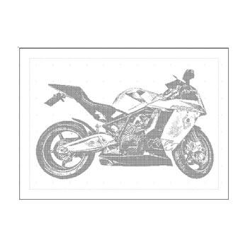 Beispiel Korrekturprobe Motorrad für Fotogravur