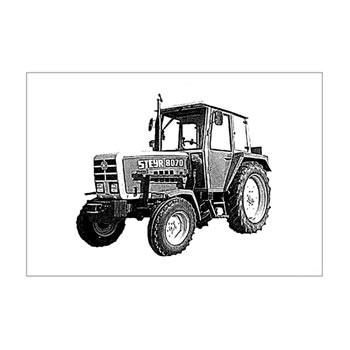 Beispiel Korrekturprobe Traktor für Fotogravur