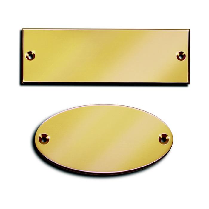 Messing Schilder-Rohlinge rechteckig oder oval