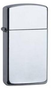 Zippo Slim Sterling Silber poliert - inkl. Gravur & Support-Paket